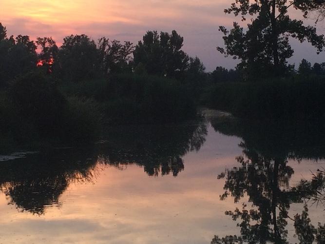 Laghetto al tramonto