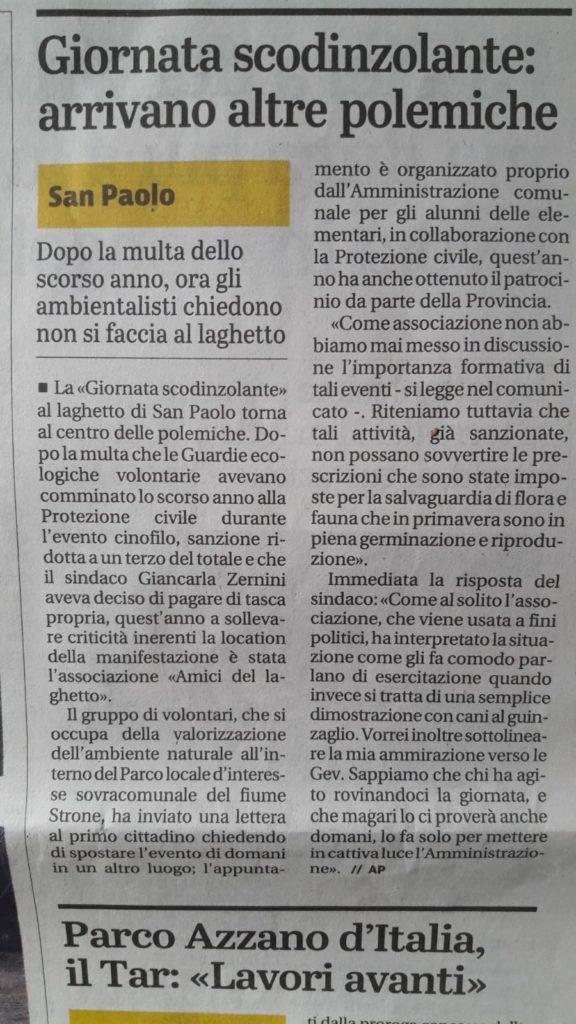 Giornale di Brescia 12 aprile 2019