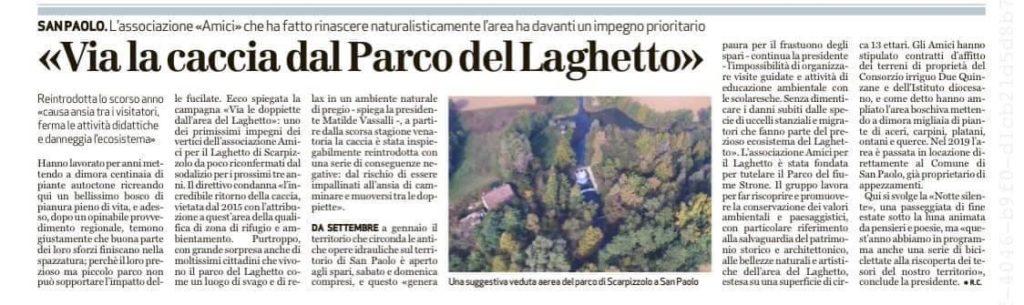 Articolo Bresciaoggi 21.07.2020